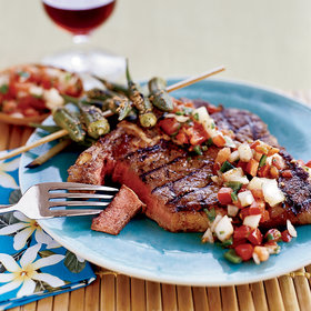 Food & Wine: Smoky Spiced T-Bone Steaks with Chilean Salsa