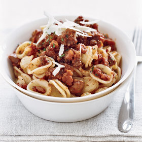 Food & Wine: Orecchiette Bolognese with Chestnuts
