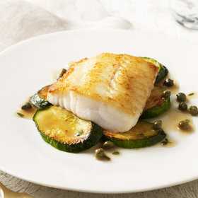 Food & Wine: Vinegar-Poached Sturgeon with Thyme-Butter Sauce