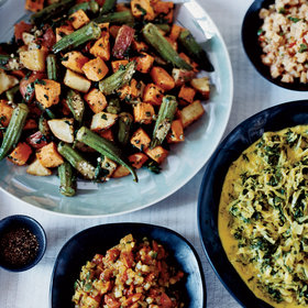 mkgalleryamp; Wine: Roasted Sweet Potato and Okra Salad
