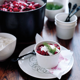 Food & Wine: Beet and Red Cabbage Borscht