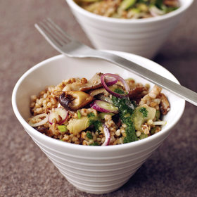 Food & Wine: Buckwheat Salad with Mushrooms and Parsley Oil