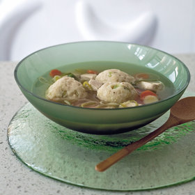 Food & Wine: Chicken Soup with Rosemary Matzo Balls