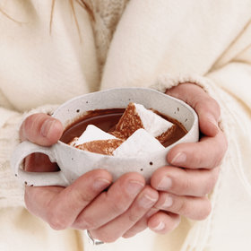 Food & Wine: Superrich Hot Chocolate with Coconut Cream