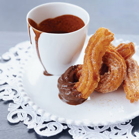 Food & Wine: Warm Churros and Hot Chocolate