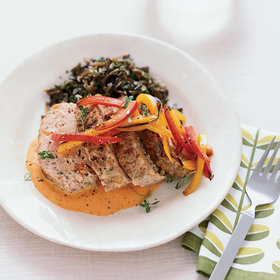 Food & Wine: Mini Turkey Meat Loaves with Red Pepper Sauce