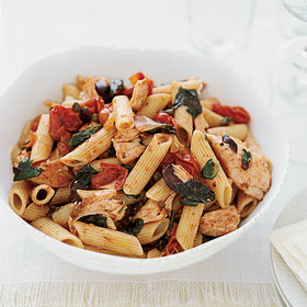 Food & Wine: Penne with Salmon Puttanesca