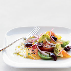 Food & Wine: Greek Salad with Feta Mousse