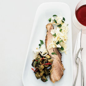 Food & Wine: Slow-Roasted Pork Belly with Eggplant and Pickled Fennel
