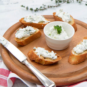 Food & Wine: Goat Cheese-Garlic Toasts
