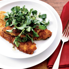 mkgalleryamp; Wine: Fried Veal Cutlets with Herb Salad