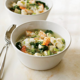 Food & Wine: Miso Soup with Shrimp and Tofu