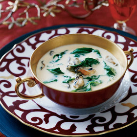 Food & Wine: Mussel-and-Spinach Bisque