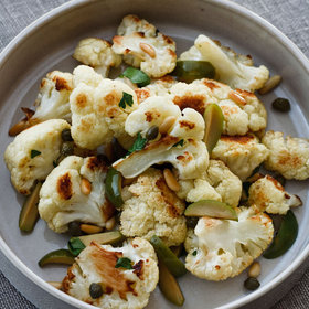 Food & Wine: Roasted Cauliflower with Green Olives and Pine Nuts