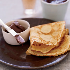 Food & Wine: Brown-Butter Crêpes with Nutella and Jam