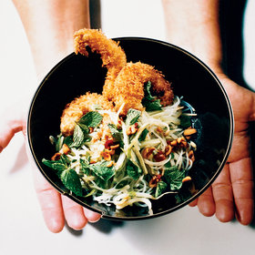 Food & Wine: Crispy Shrimp with Noodle and Bean Sprout Salad