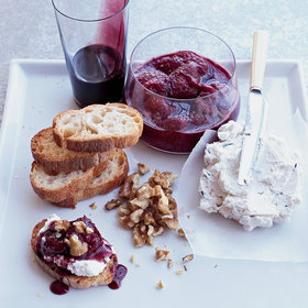 Food & Wine: Goat Cheese Mousse with Red-Wine Caramel