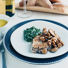 Food & Wine: Skate with Mushrooms and Hazelnuts