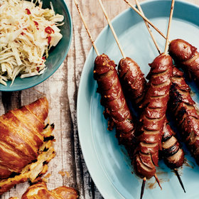 Food & Wine: Crosshatch Hot Dogs on Grilled Croissants