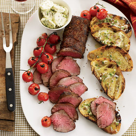 Food & Wine: Grilled Beef Tenderloin with Ancho-Jalapeño Butter