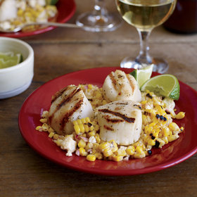 Food & Wine: Grilled Scallops with Mexican Corn Salad