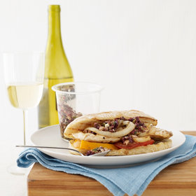 Food & Wine: Grilled Chicken, Tomato and Onion Sandwiches