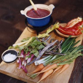 Food & Wine: Red Wine Bagna Cauda with Crudités