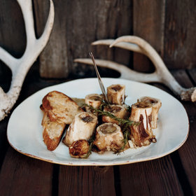 Food & Wine: Grilled Marrow Bones with Rosemary-Lemon Bruschetta