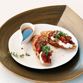 Food & Wine: Honey-Tomato Bruschetta with Ricotta