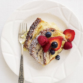 Food & Wine: Cinnamon-Raisin Bread Custard with Fresh Berries