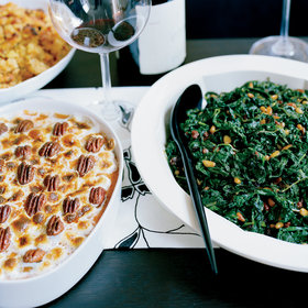 Food & Wine: Sweet Potato Gratin with Chile-Spiced Pecans