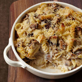 Food & Wine: Cheesy Mixed Pasta Casserole with Mushrooms