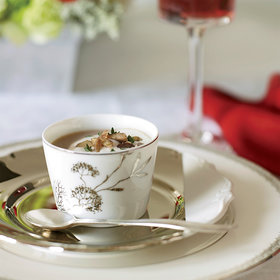 mkgalleryamp; Wine: Chestnut Soup with Grappa Cream