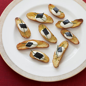 Food & Wine: Roasted Fingerling Potato and Pressed Caviar Canapés