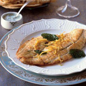 Food & Wine: Stuffed Flounder with Frizzled Mint and Ginger