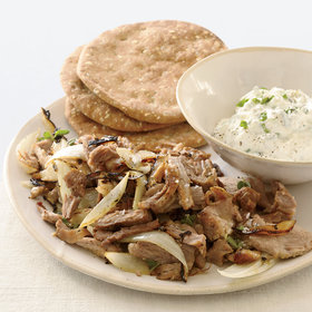 Food & Wine: Pork Souvlaki with Tzatziki