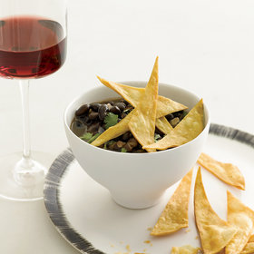 Food & Wine: Black Bean Soup with Crispy Tortillas