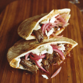 Food & Wine: Lamb Pita Pockets with Tomato-Ginger Compote