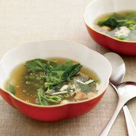 Food & Wine: Pea Consommé with Mint