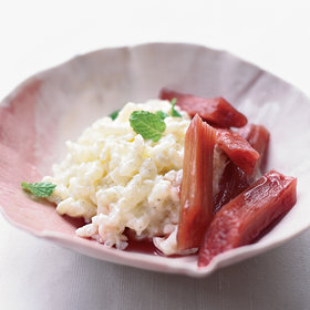 Food & Wine: Rice Pudding with Poached Rhubarb