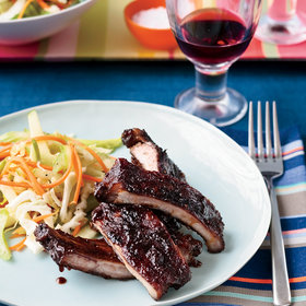 Food & Wine: Apple-Glazed Barbecued Baby Back Ribs