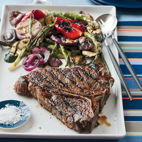 Food & Wine: Grilled Porterhouse Steak with Summer Vegetables