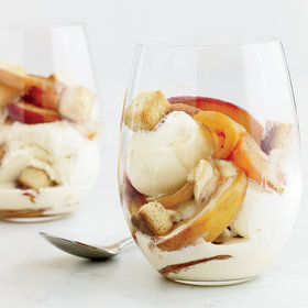 Food & Wine: Bourbon-Nectarine Ice Cream Sundaes with Pound-Cake Croutons