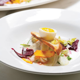 Food & Wine: Pickled Vegetable Salad with Soft-Boiled Eggs