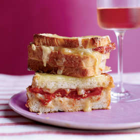 mkgalleryamp; Wine: Triple-Decker Baked Italian Cheese Sandwiches