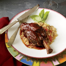 Food & Wine: Braised Lamb Shanks with Garlic and Indian Spices