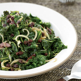 Food & Wine: Kale with Currants, Lemon and Olives