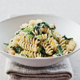 Food & Wine: Fusilli with Creamed Leek and Spinach