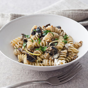 Food & Wine: Fusilli with Roasted Eggplant and Goat Cheese