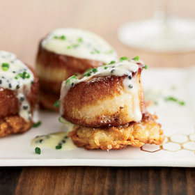 Food & Wine: Scallops with Potato Pancakes and Caviar Sauce